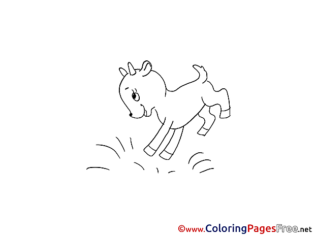 Goatling jumping Kids download Coloring Pages