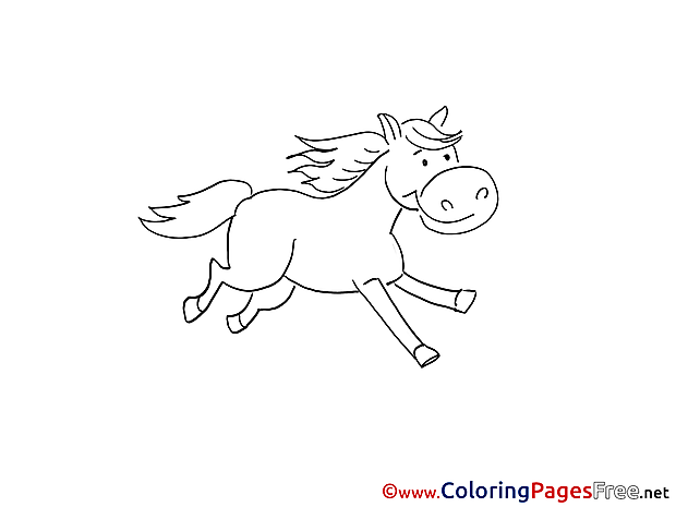 Horse free printable Coloring Sheets
