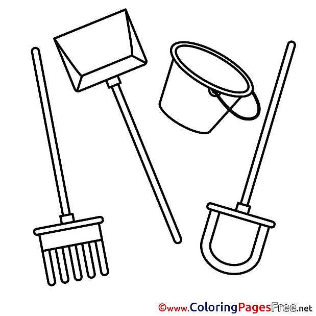 Instruments Kids free Coloring Page