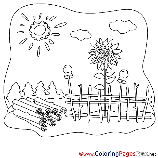 Logs Kids free Coloring Page