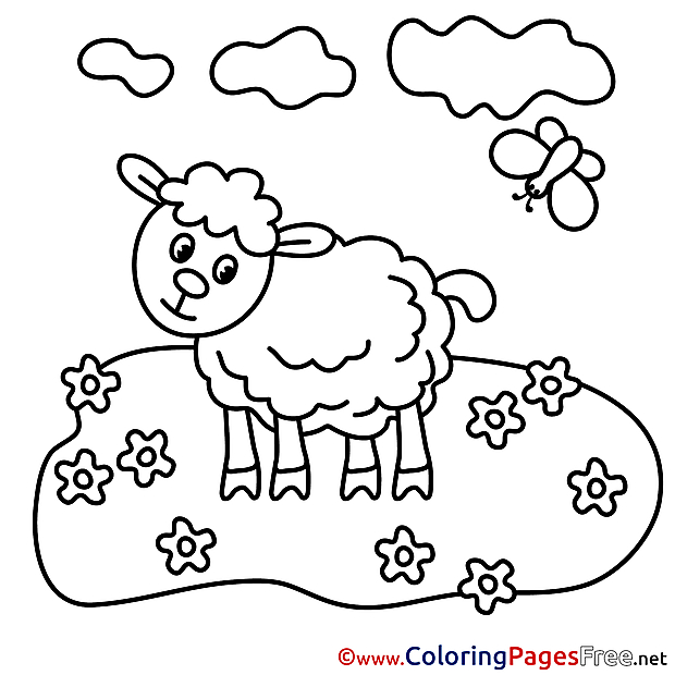 Meadow download Colouring Sheet free