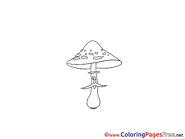 Mushroom Coloring Pages for free