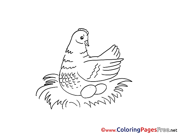Nest Children Coloring Pages free
