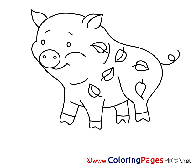 Piggy Children Coloring Pages free