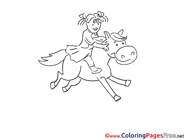 Rider Colouring Page printable free