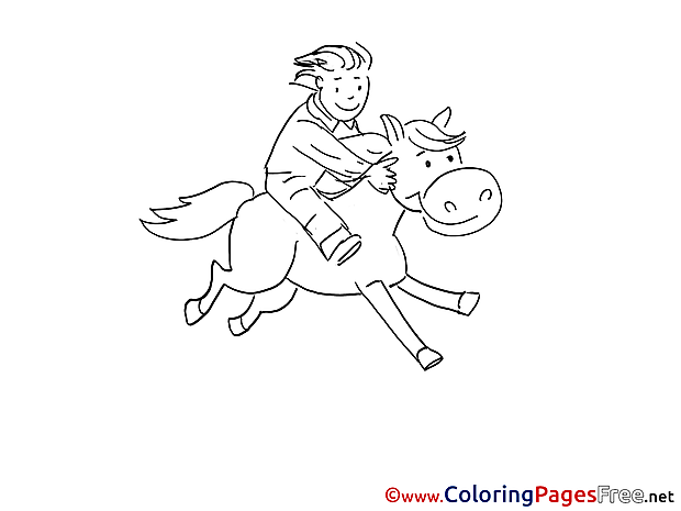 Rider for Children free Coloring Pages