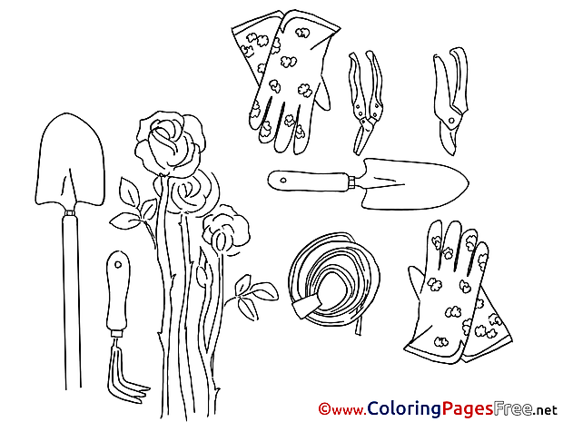 Roses Kids download Coloring Pages