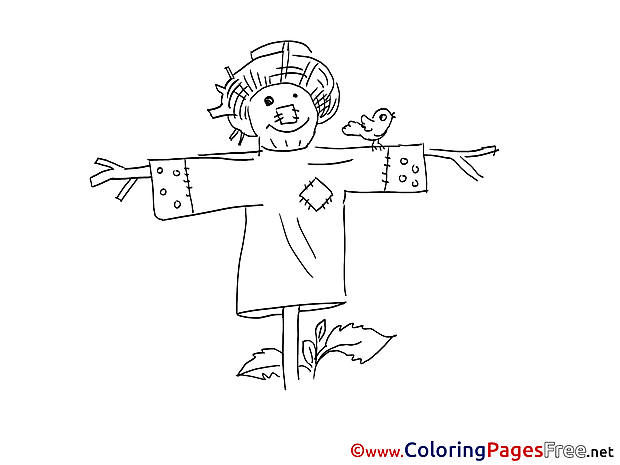 Scarecrow for Children free Coloring Pages