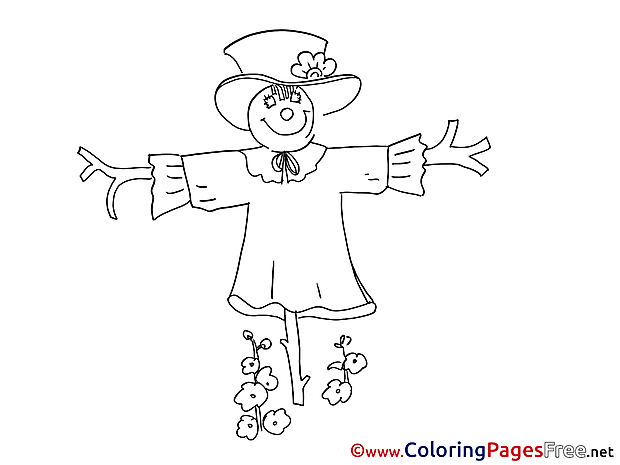 Scarecrow Kids free Coloring Page