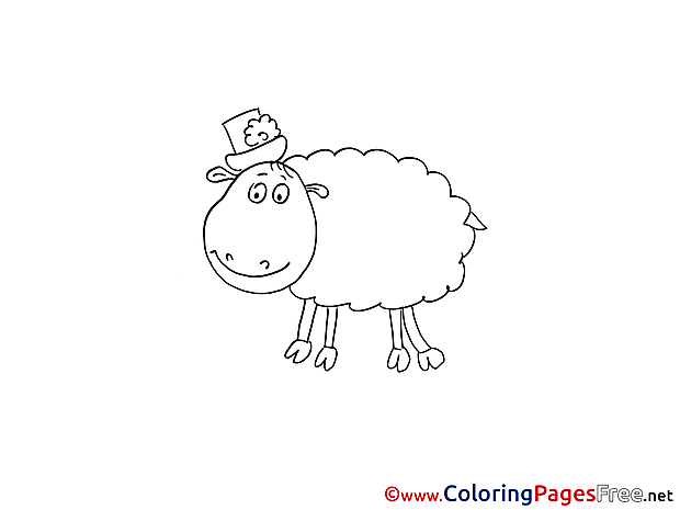 Sheep Children Coloring Pages free