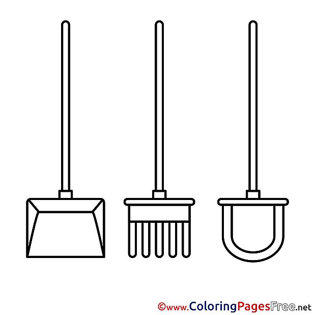 Shovel Colouring Sheet download free