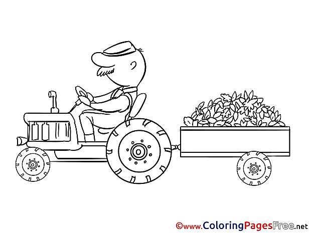Tractor printable Coloring Pages for free
