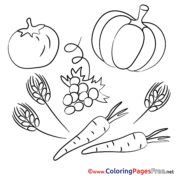Vegetables Kids download Coloring Pages