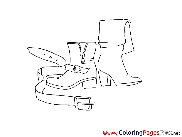 Belt Children Coloring Pages free