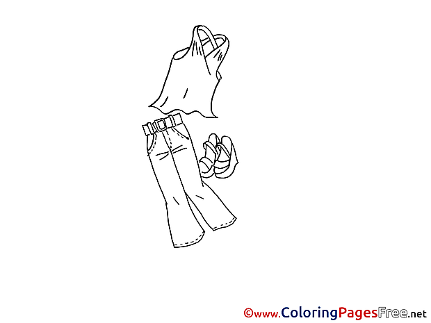 Clothes download Colouring Sheet free