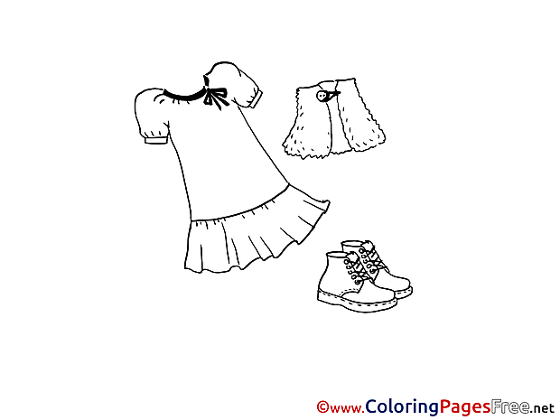 Dress for free Coloring Pages download