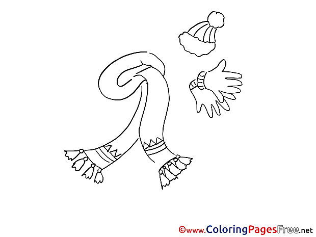 Scarf Colouring Sheet download free
