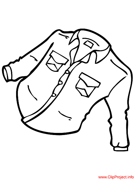 Shirt picture to color for free