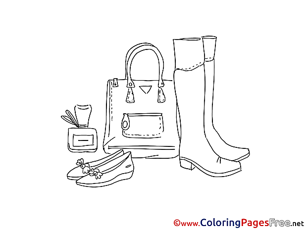 Shoes Kids free Coloring Page