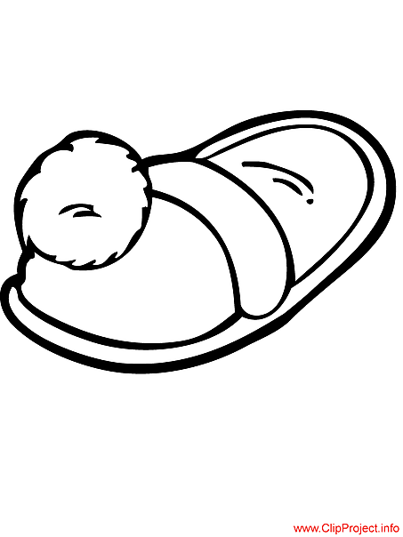 Slippers picture to coloring