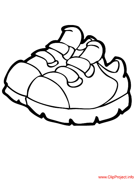 Sneakers image coloring