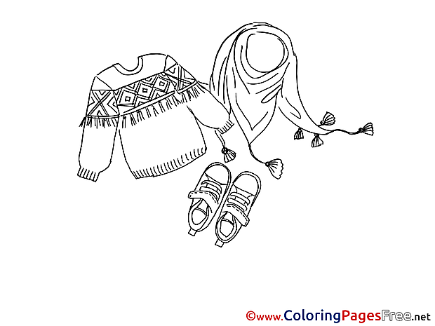 Sweater free printable Coloring Sheets