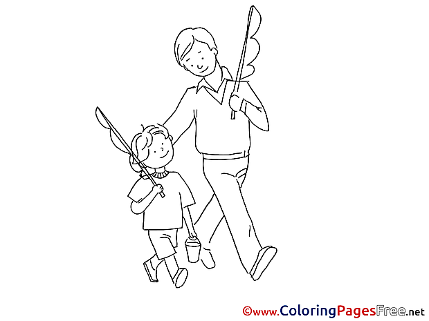 Fishing printable Father's Day Coloring Sheets