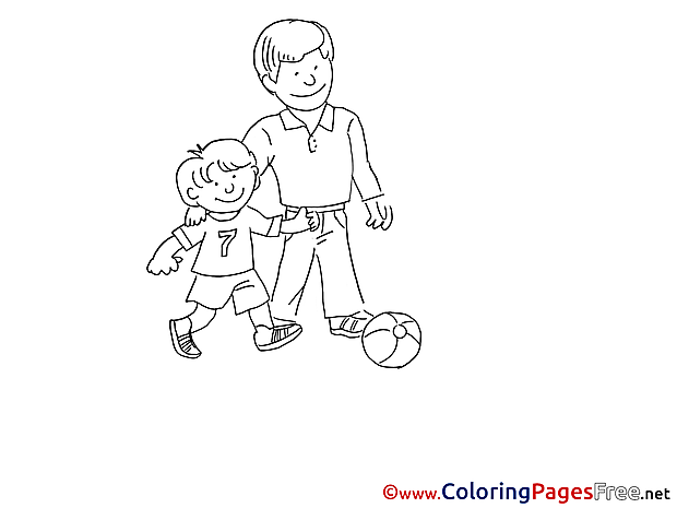 Football Coloring Sheets Father's Day free