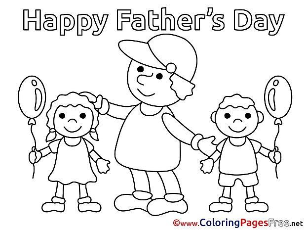 Kids printable Coloring Pages Father's Day
