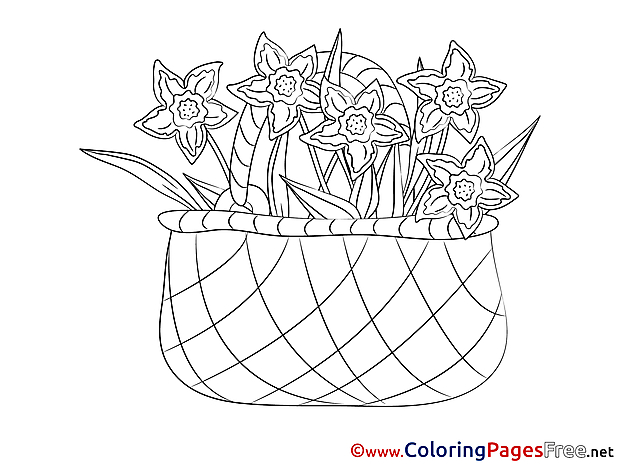 Basket Coloring Pages for free