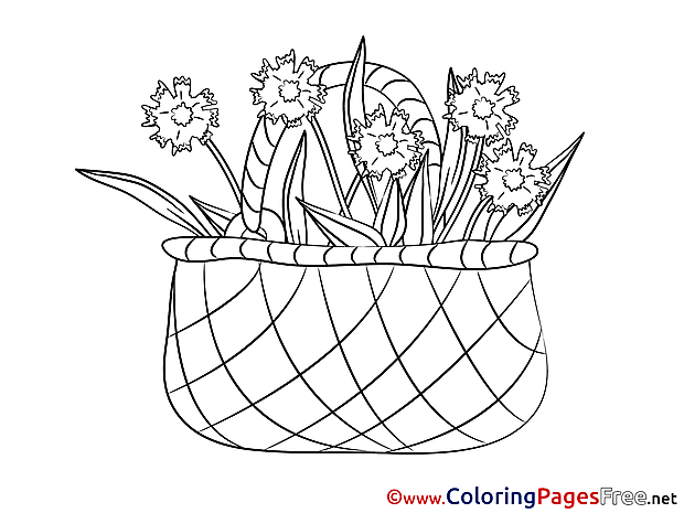 Basket printable Coloring Sheets download