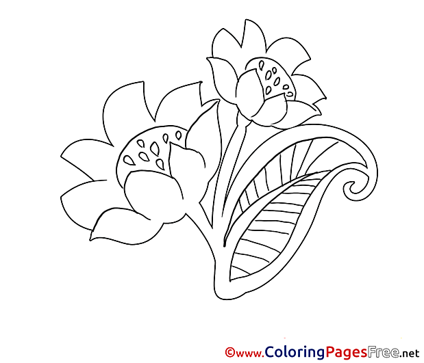 Beautiful Flowers Kids download Coloring Pages