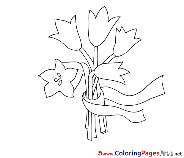 Bouquet Colouring Page printable free