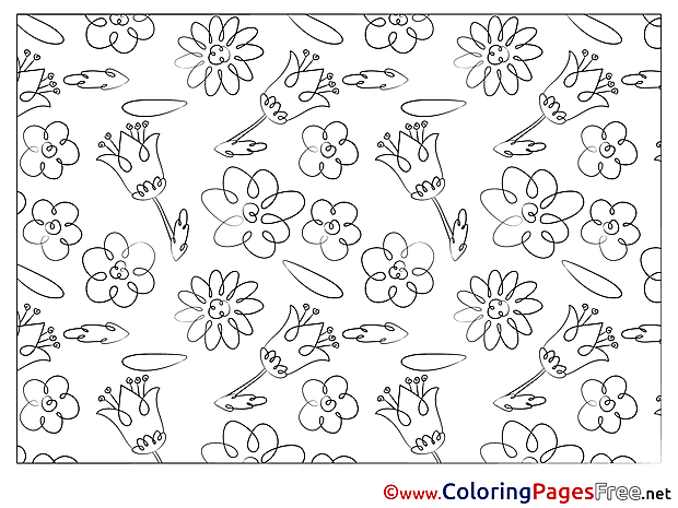 Coloring Pages Flowers for free