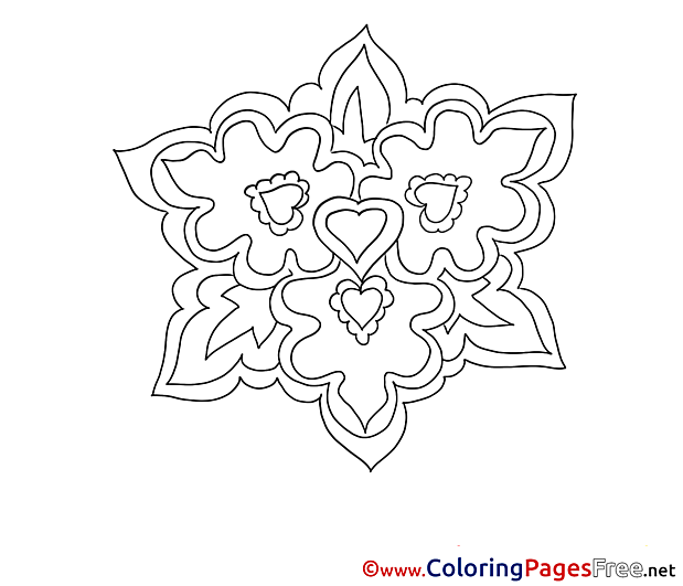 Coloring Sheets Flowers download free