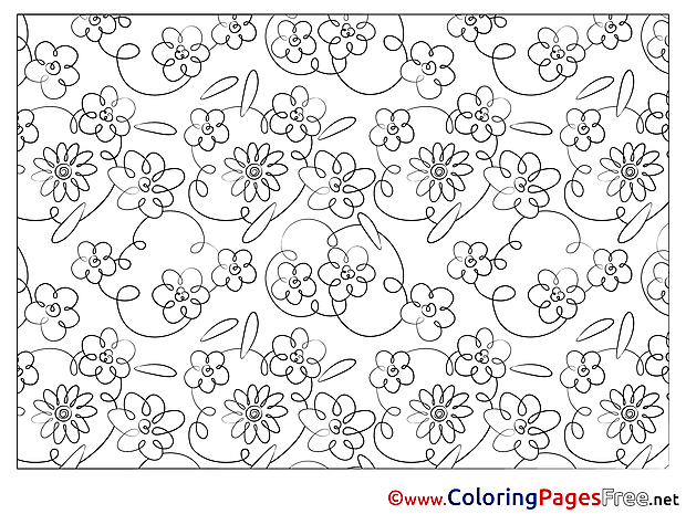 Decoration Colouring Page printable free