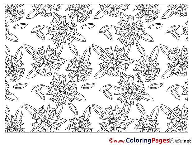 Decoration Flowers free printable Coloring Sheets