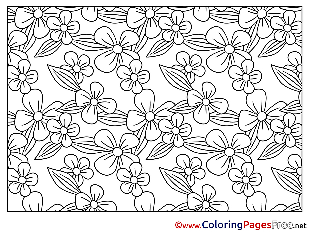 Drawing Flowers Children Colouring Page
