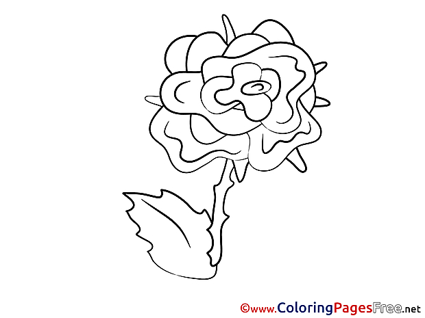 Free Rose printable Coloring Sheets