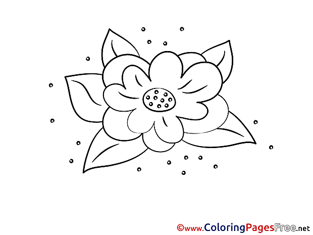 Lily Children Coloring Pages free