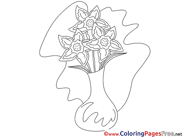 Narcissus Coloring Pages for free