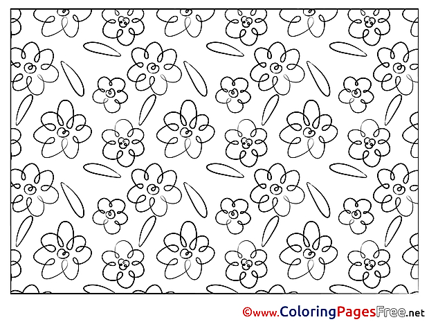 Printable Flowers Coloring Pages for free