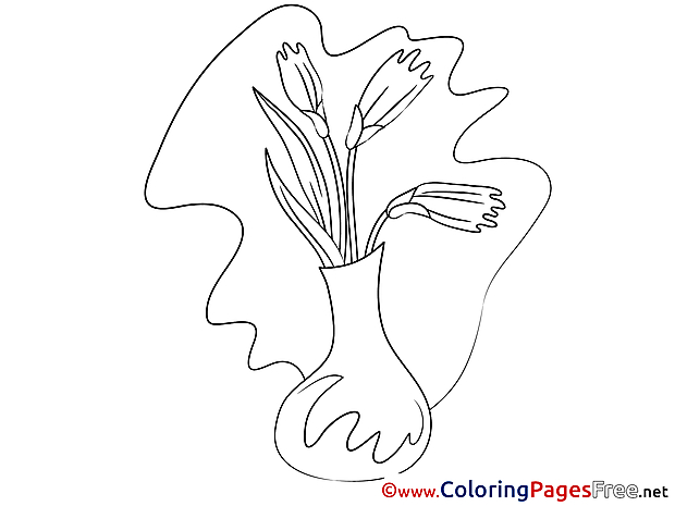 Vase printable Coloring Sheets download