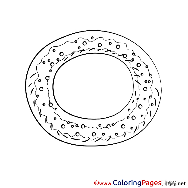 Bagel Coloring Sheets download free