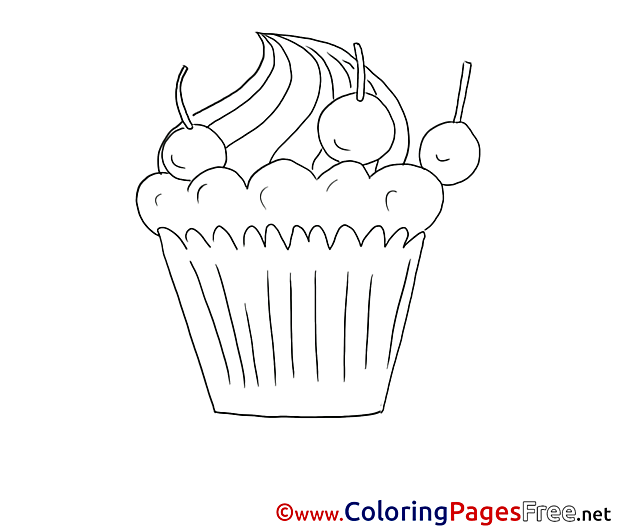 Cake download printable Coloring Pages