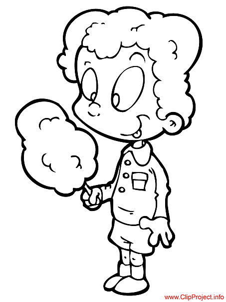 Candy floss image  to coloring for free