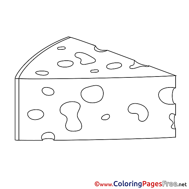 Cheese printable Coloring Pages for free