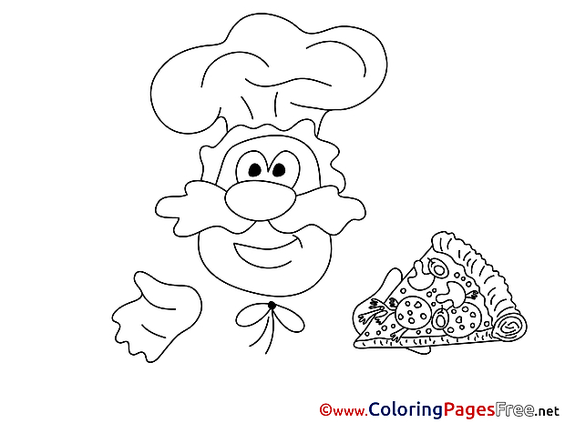 Cook Children Coloring Pages free