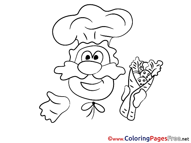 Cook Kids download Coloring Pages