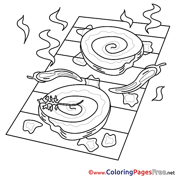Grill free Colouring Page download